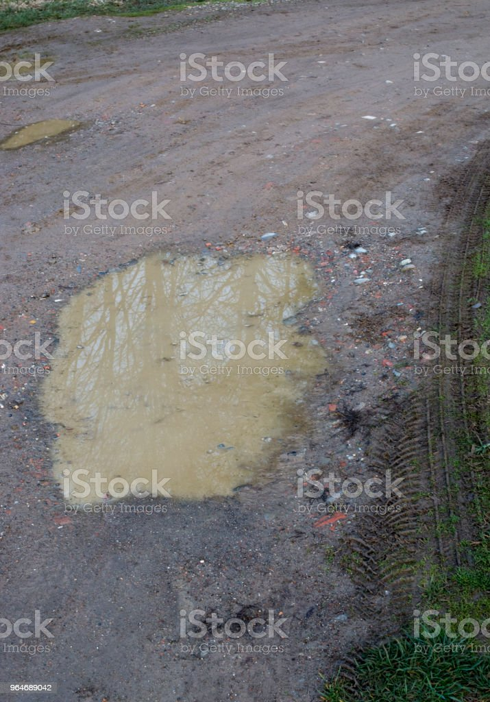 Puddle of water royalty-free stock photo