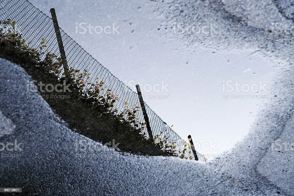 puddle reflection royalty-free stock photo