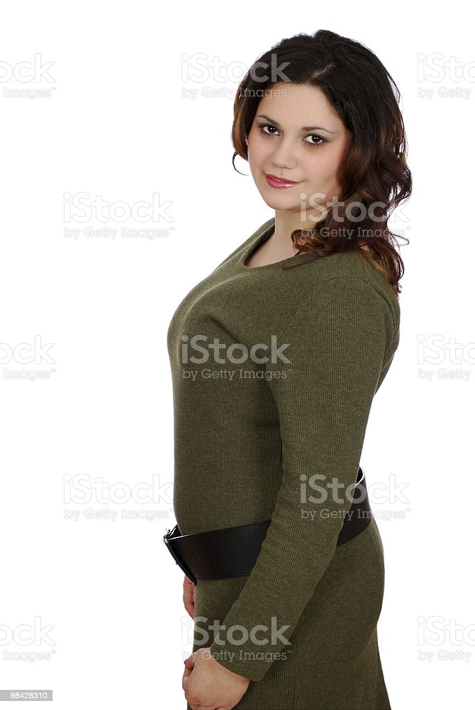 pudgy girl posing royalty-free stock photo