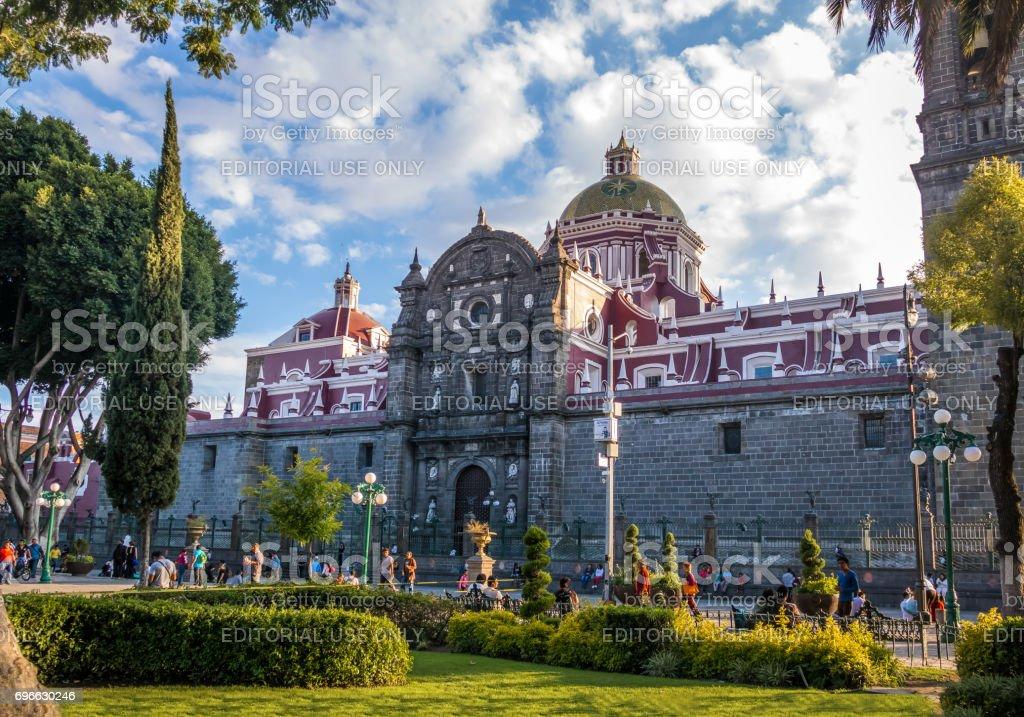 Puebla Cathedral - Puebla, Mexico stock photo