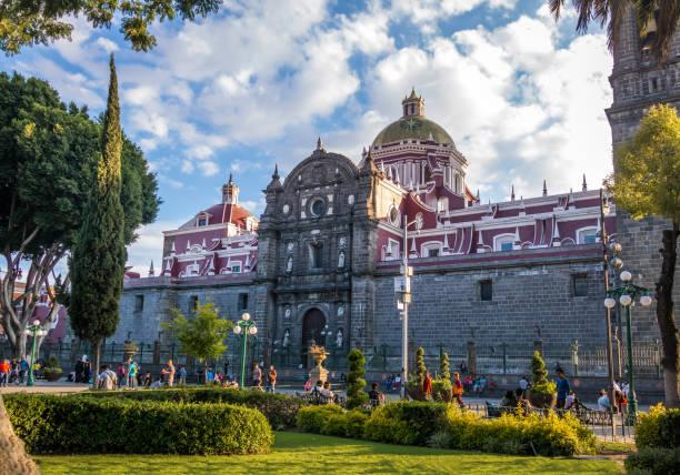 Puebla Cathedral - Puebla, Mexico Puebla, Mexico - Oct 2016: Puebla Cathedral - Puebla, Mexico puebla state stock pictures, royalty-free photos & images