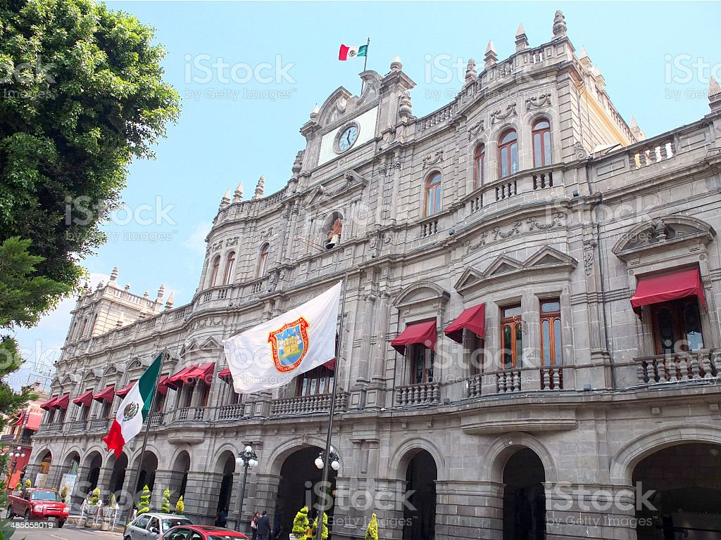 Puebla City Hall stock photo