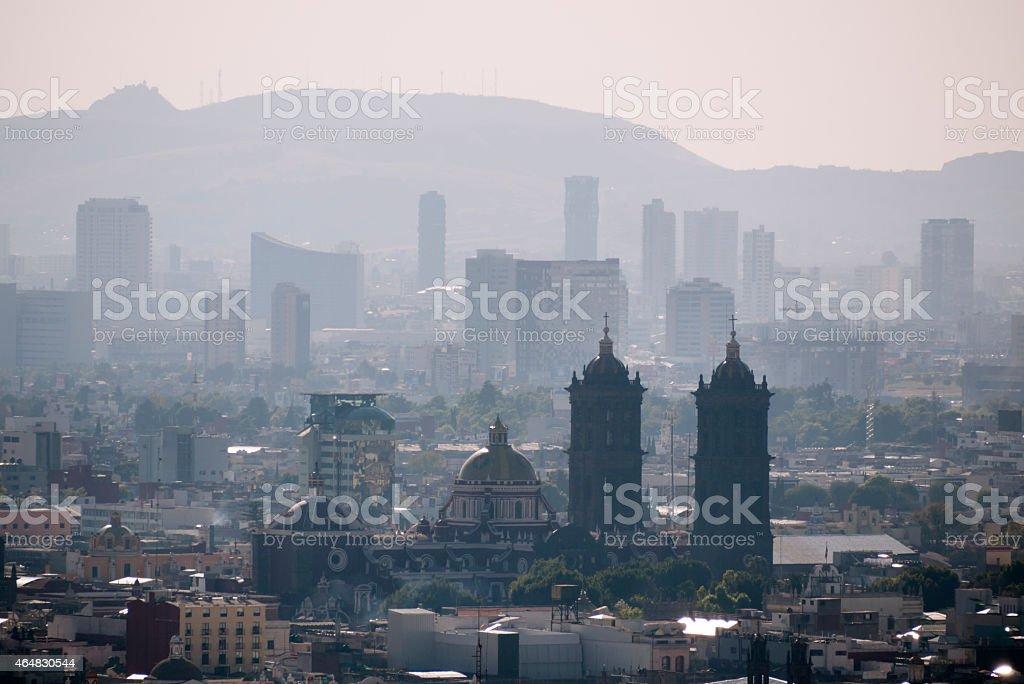 Puebla City Skyline, Mexico stock photo