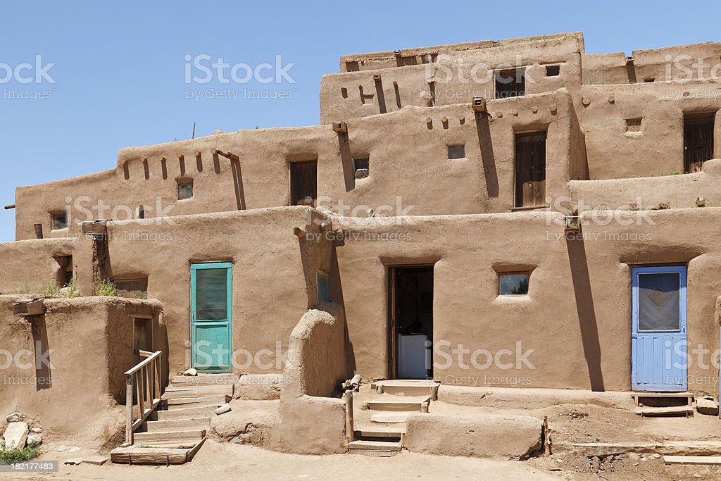 Pueblo Architecture stock photo