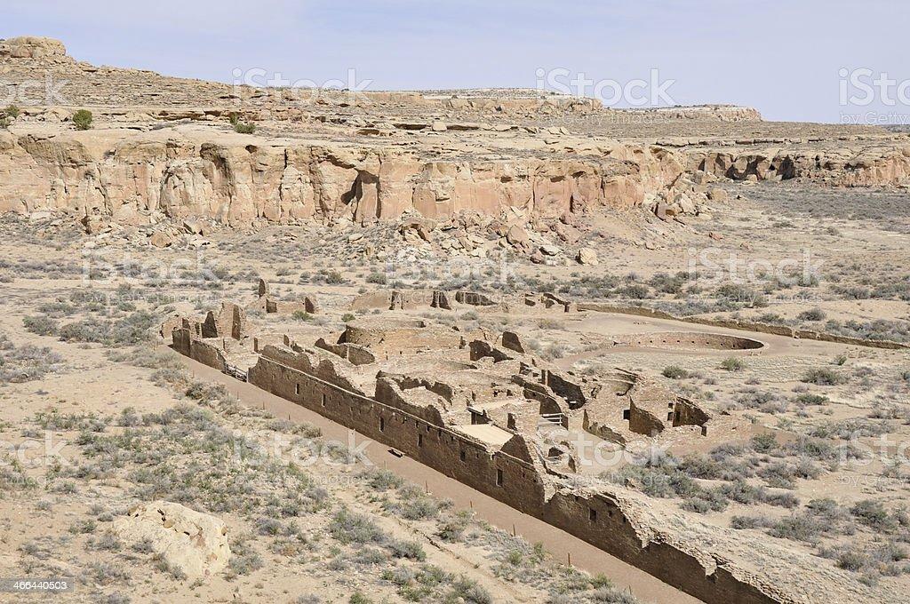 Pueblo Bonito ruins, Chaco Canyon, New Mexico (USA) stock photo