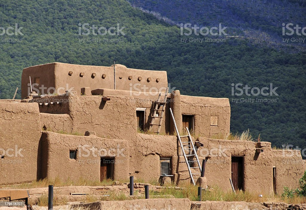 Pueblo de Taos, New Mexico, USA royalty-free stock photo