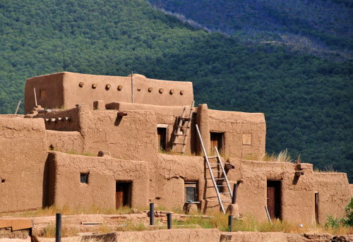 Daily Life In Taos Pueblo, New Mexico, USA Stock Photo ...  |Taos Pueblo New Mexico Usa