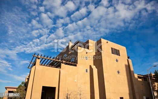 istock Pueblo Revival architecure 177105402