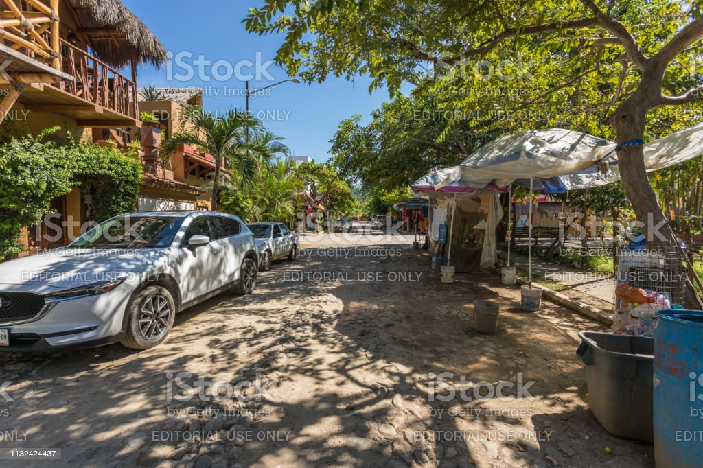 Pueblo San Pancho (San Francisco) in Mexico stock photo