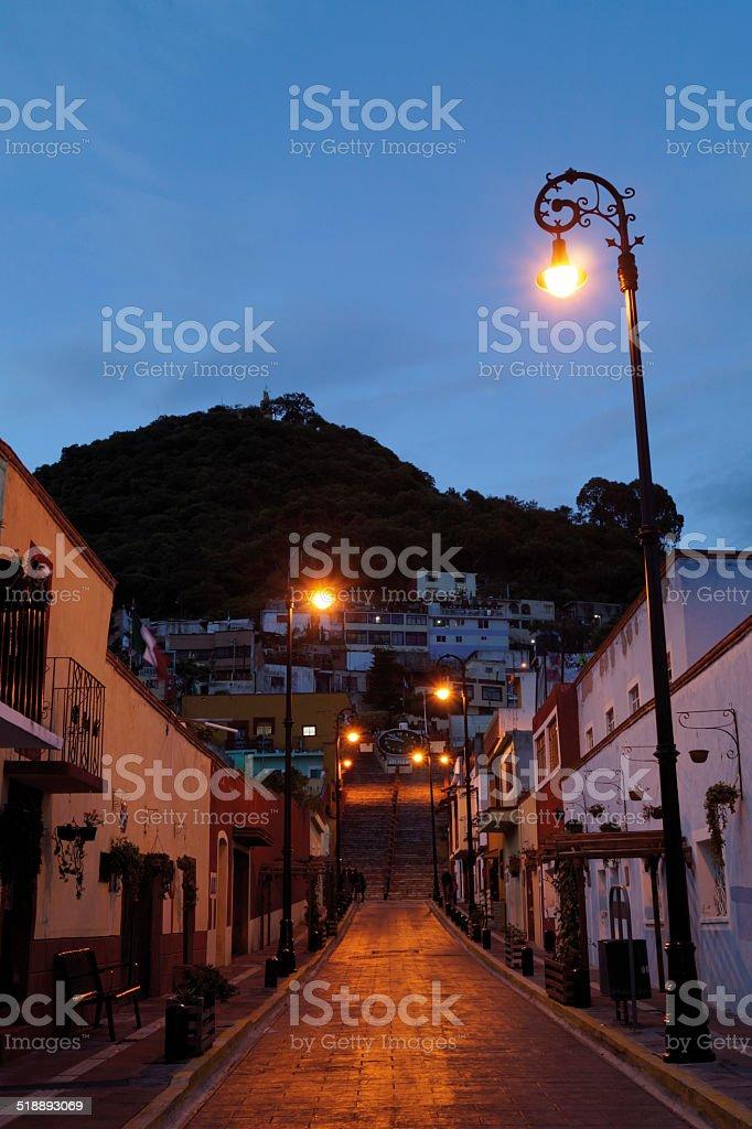 Colorido Street y color de la fachada de la casa, calle, México - foto de stock