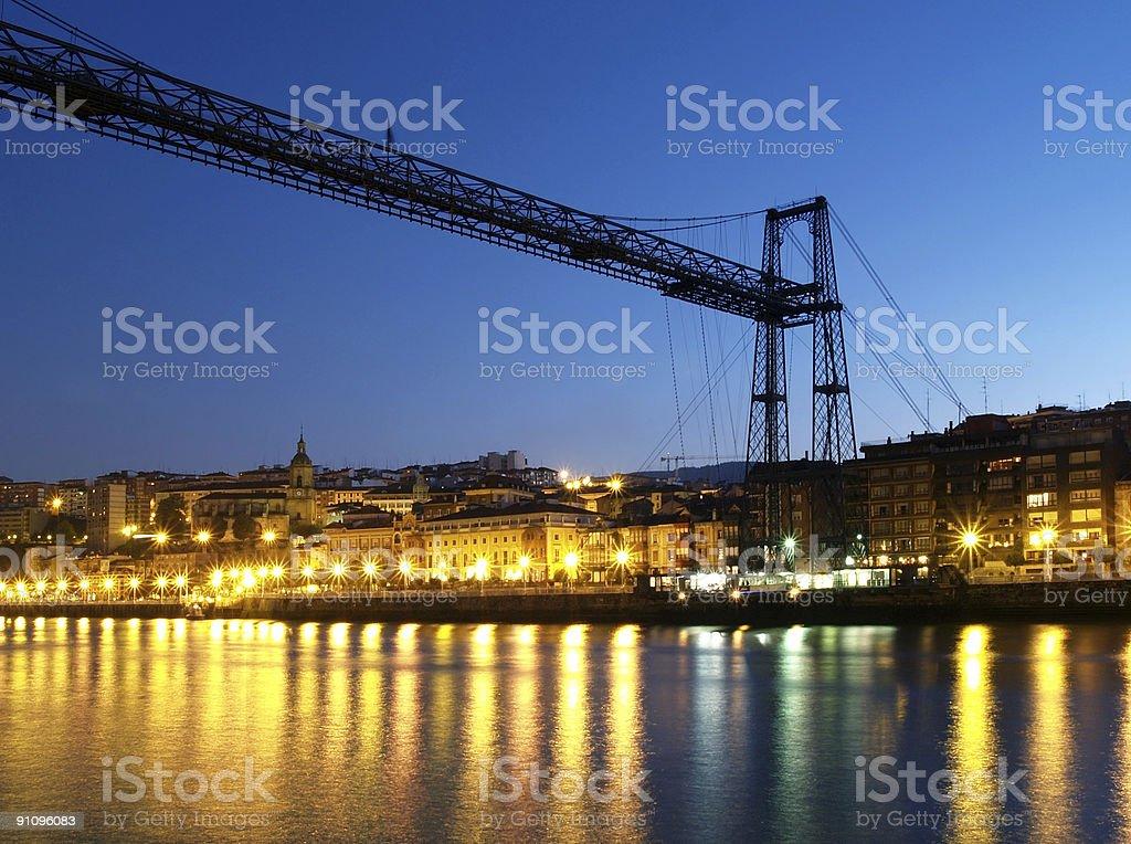 Puente colgante de Vizcaya stock photo
