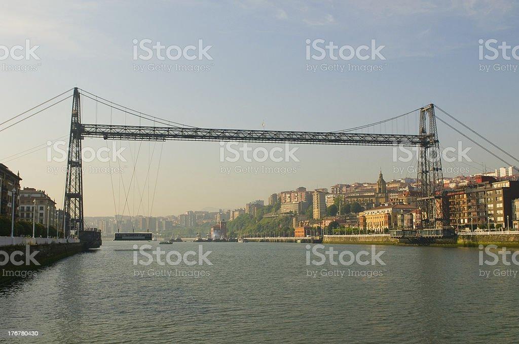 Puente Colgante or Vizcaya Bridge, Spain stock photo