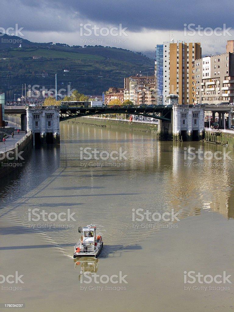 Puente de Deusto. Bilbao. Vizcaya. Pais Vasco. España. royalty-free stock photo