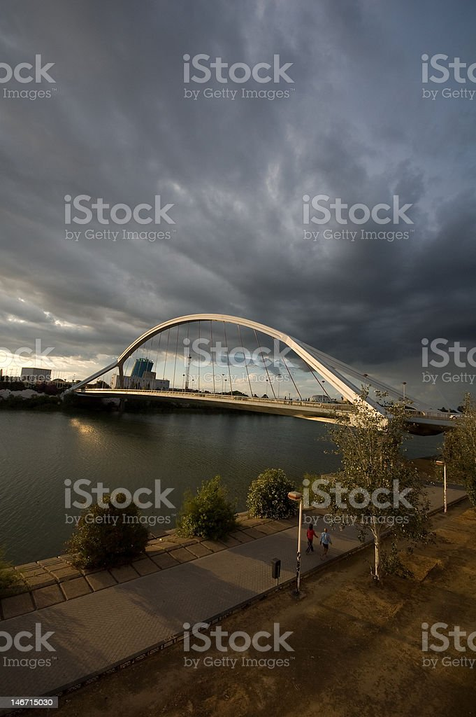 puente de la Barqueta - Sevilla royalty-free stock photo