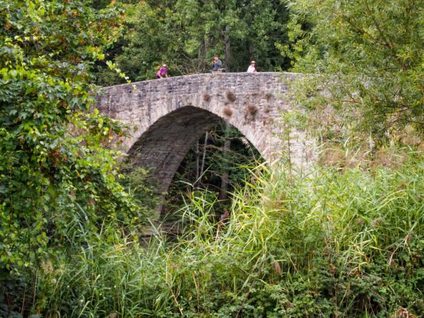 Puente de Magdalena - Pamplona stock photo