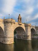 Bridge of Toledo over river Manzanares in Madrid, Spain. Puente de Toledo
