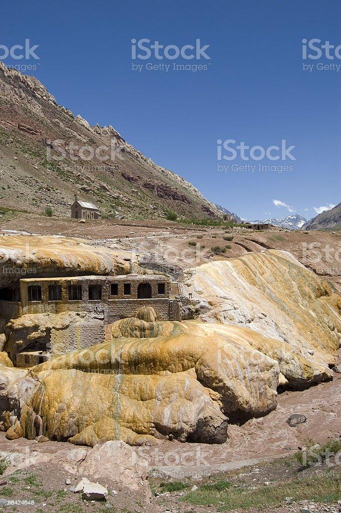 Puente del Inca, Argentina royalty-free stock photo