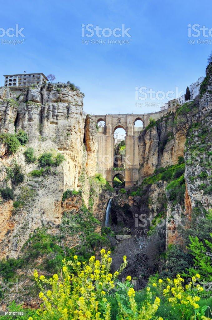 Puente Nuevo and El Tajo Gorge, Ronda,Andalusia,Spain stock photo