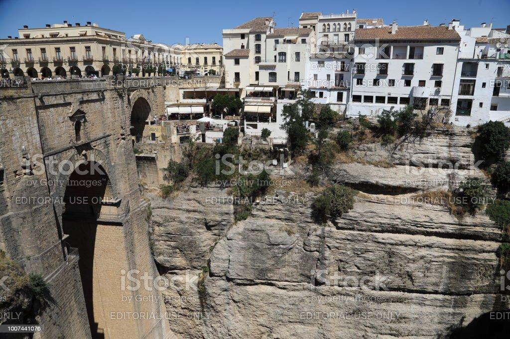 Puente Nuevo Bridge in Ronda Andalusia, Spain stock photo