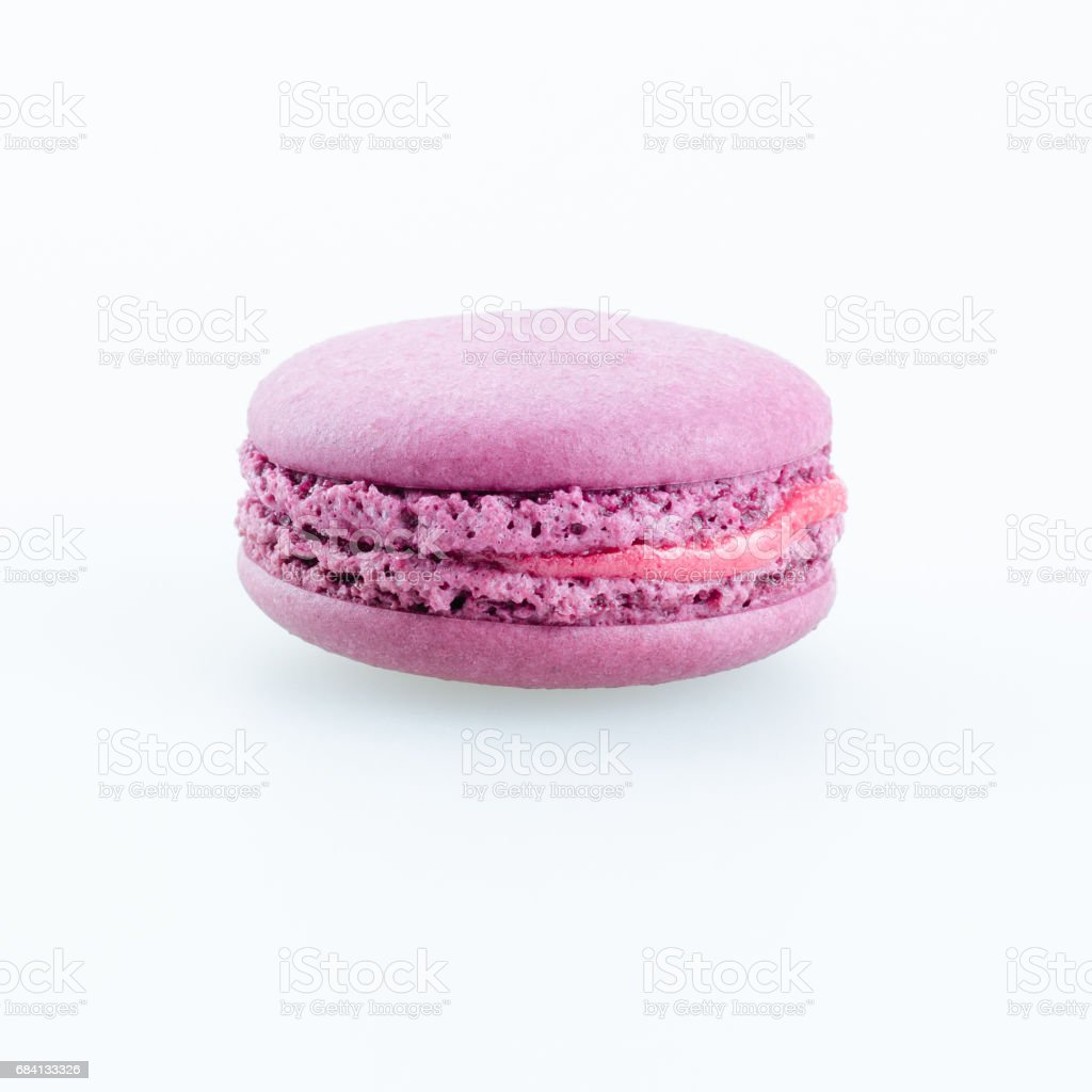 pueple macaron on white background royalty free stockfoto