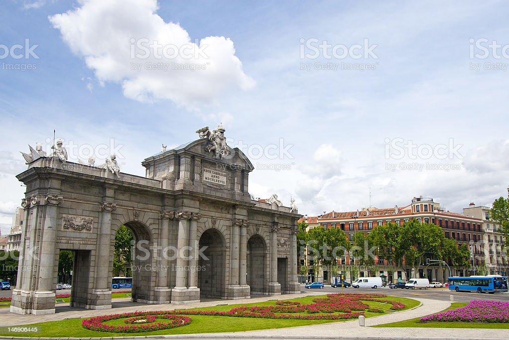 Puerta de Acalá stock photo