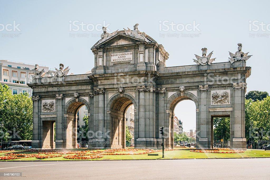 Puerta de Alcalá, Madrid stock photo