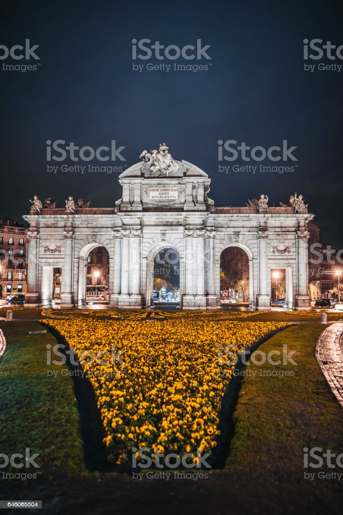 Puerta de Alcalá, Madrid stock photo
