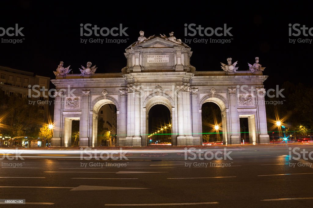 Puerta de Alcalá. stock photo