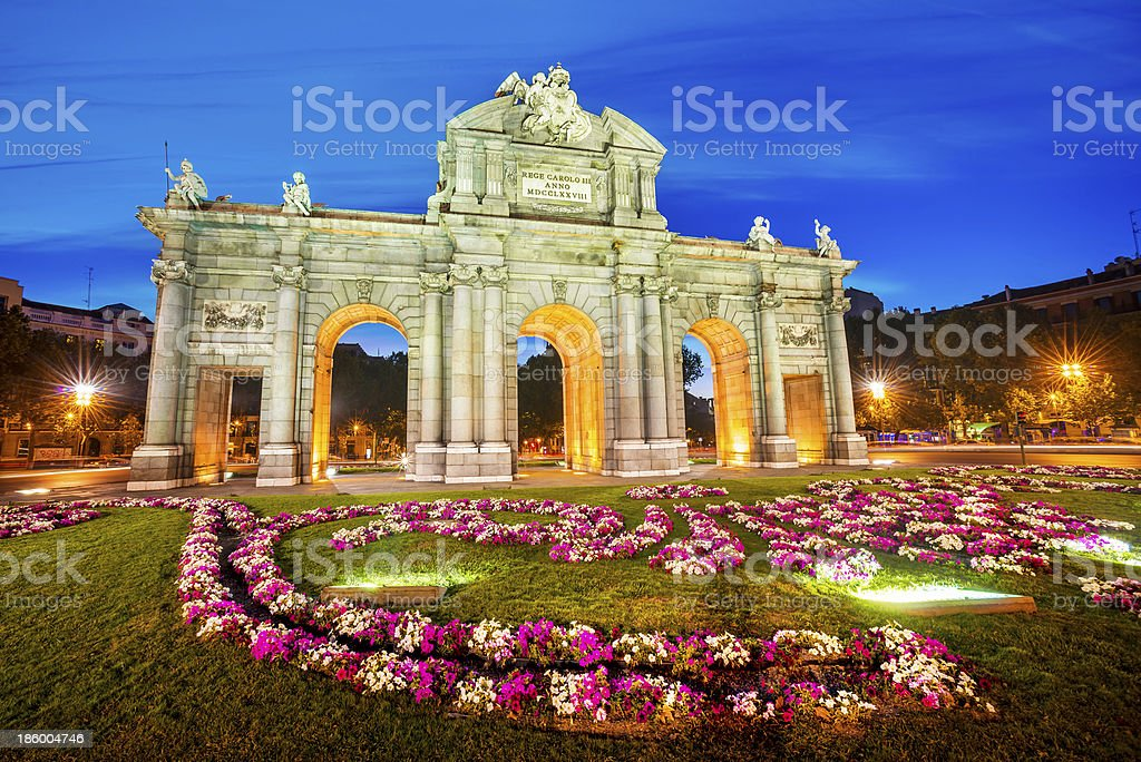Puerta de Alcala, Madrid, Spain stock photo