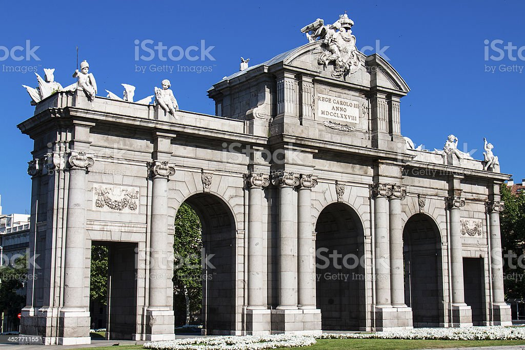Puerta de Alcala. Madrid, Spain royalty-free stock photo