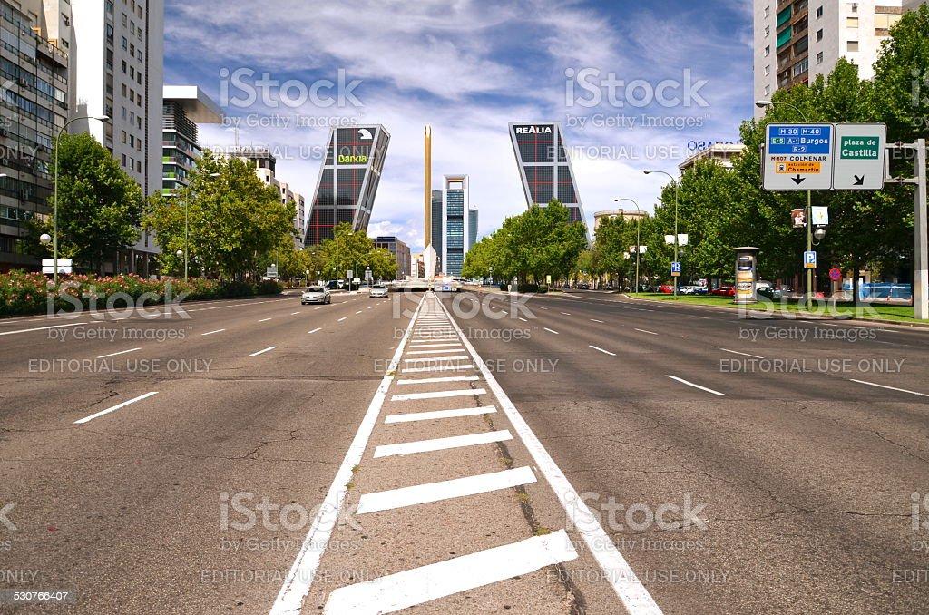 Puerta de Europa Madrid, España - foto de stock
