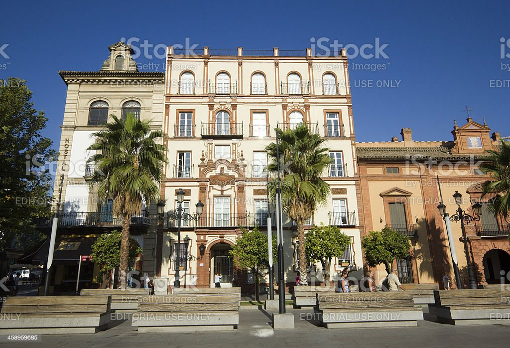 Puerta de Jerez in Seville, Spain royalty-free stock photo