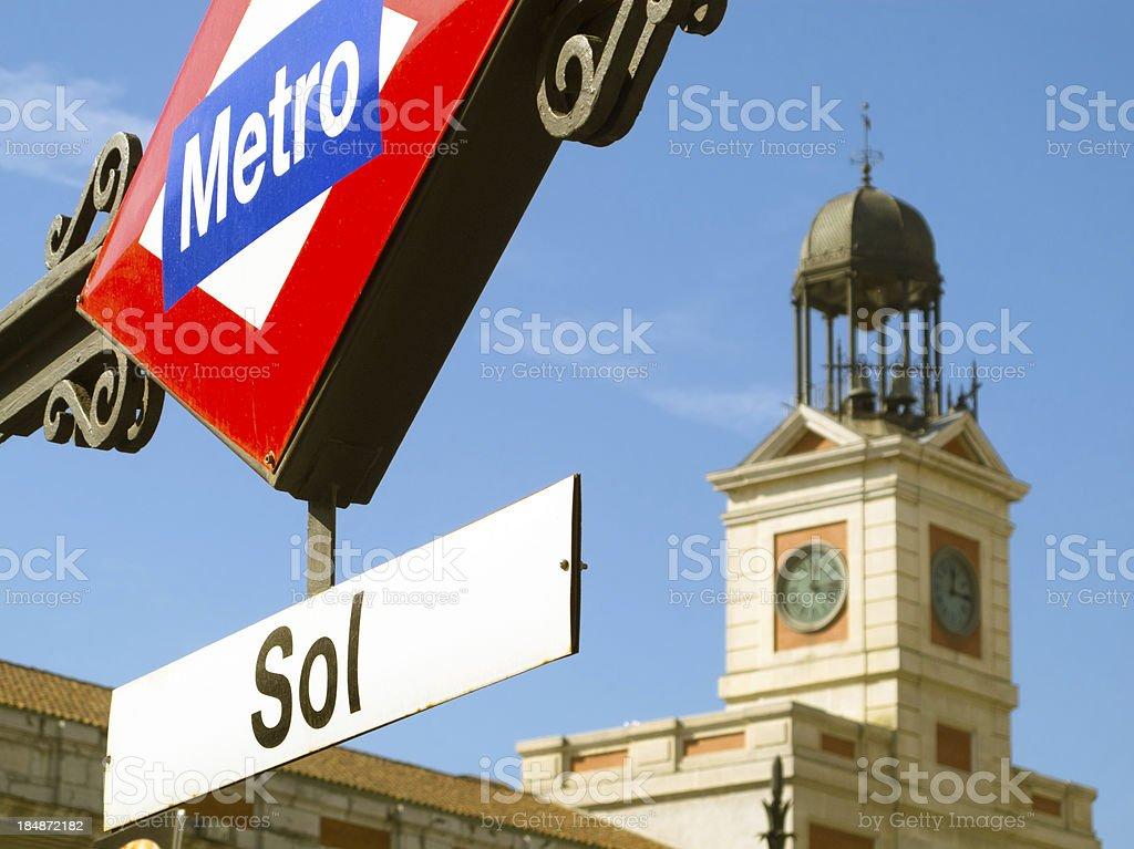 Puerta del Sol in Madrid. stock photo