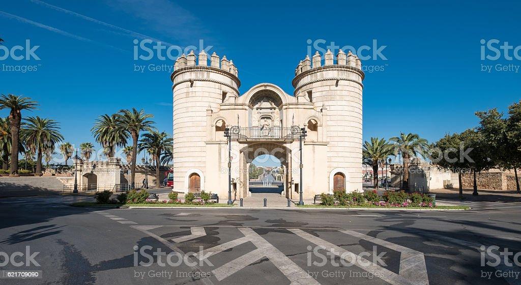 Puerta Palmas Badajoz stock photo