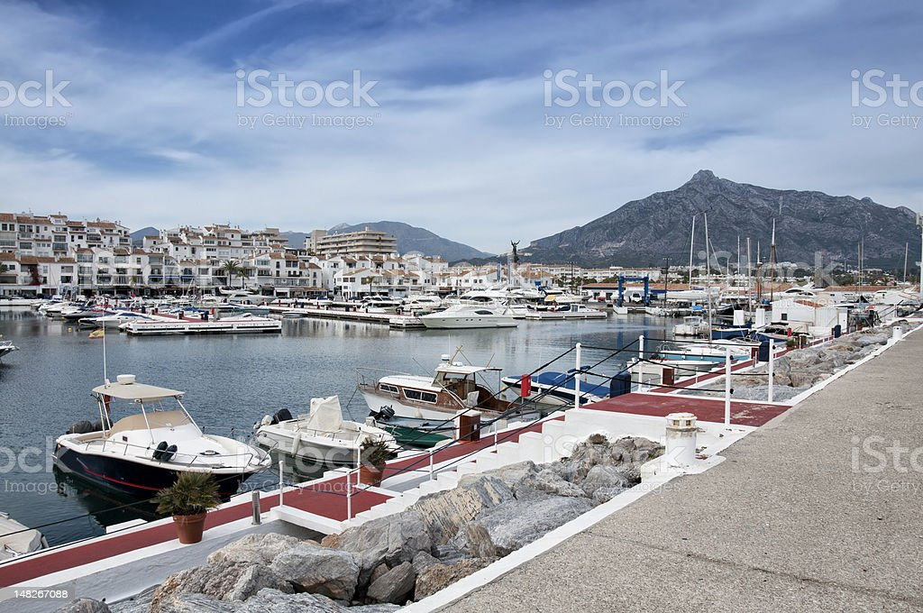 Puerto Banus marina,Costa del Sol,Spain royalty-free stock photo
