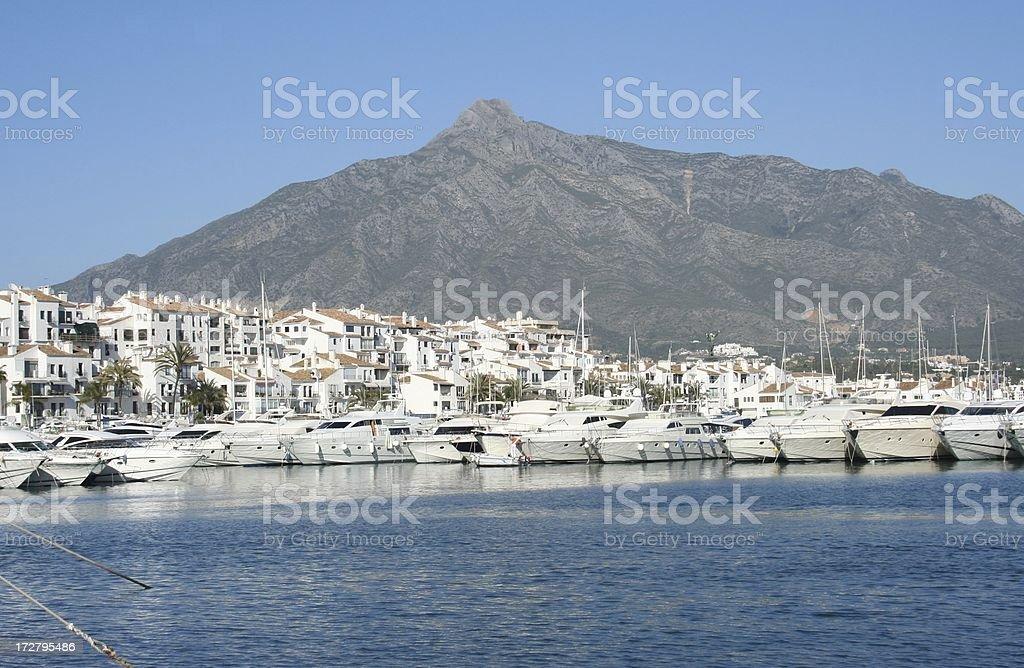 Puerto Banus royalty-free stock photo