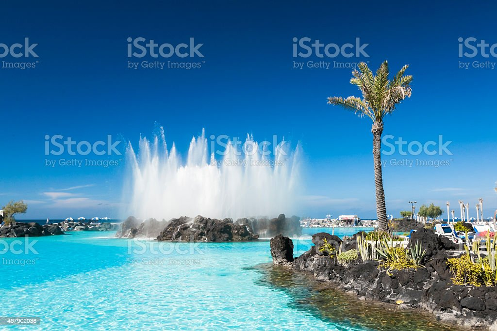 Puerto de la Cruz, Tenerife; Spain stock photo