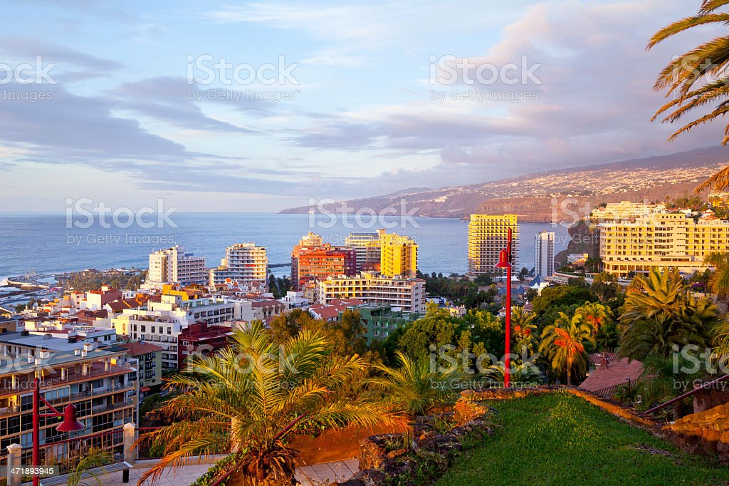 Puerto de la Cruz, Tenerife, Spain stock photo