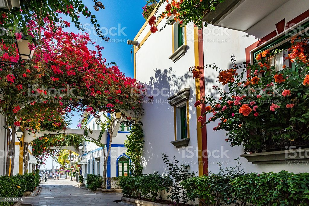 Puerto de Mogan, beautiful, romantic town on Gran Canaria, Spain stock photo