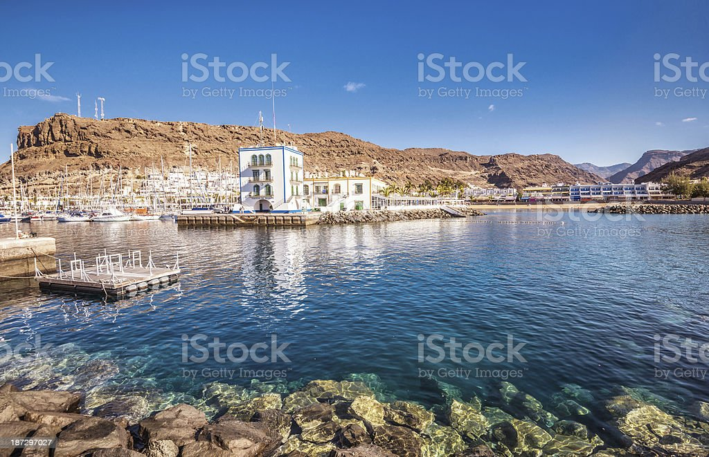Puerto de Mogan Harbour and Beach - Gran Canaria royalty-free stock photo