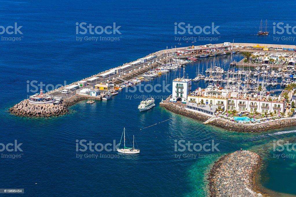 Puerto de Mogan town on Gran Canaria stock photo