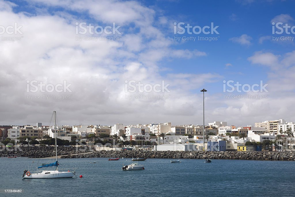 Puerto del Rosario royalty-free stock photo