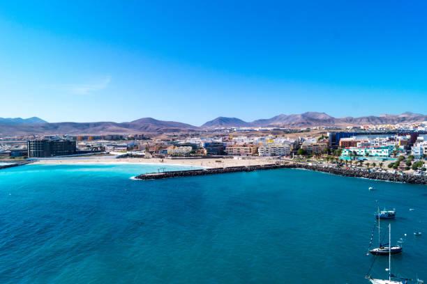 puerto del rosarion - fkk strand stock-fotos und bilder