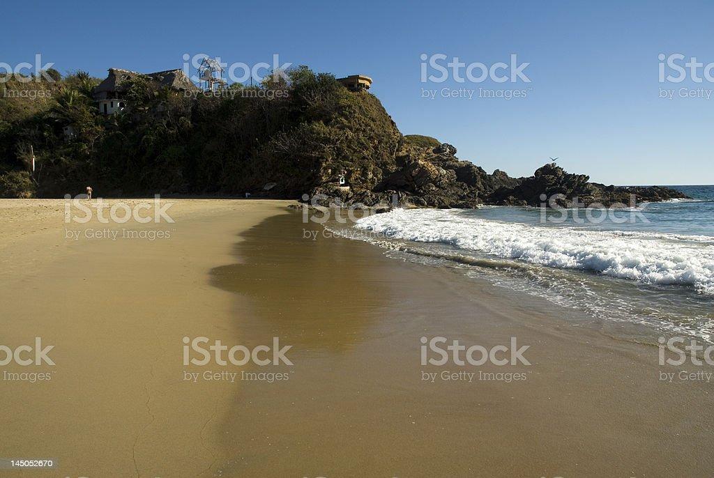 Puerto Escondido Pacific Coast Oaxaca royalty-free stock photo