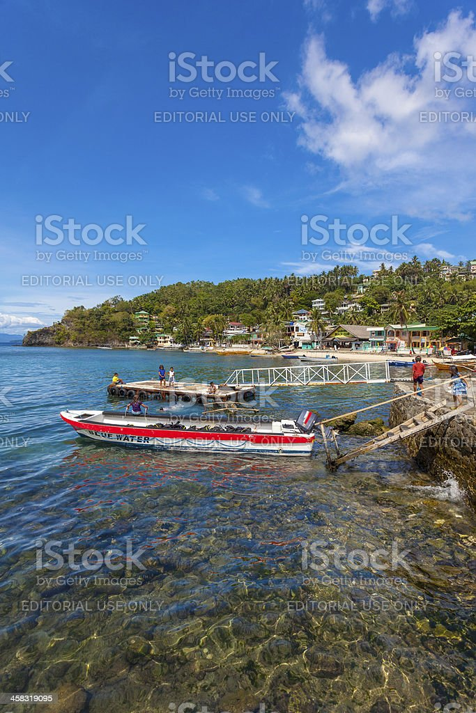 Puerto Galera Dive Boat, Philippines royalty-free stock photo