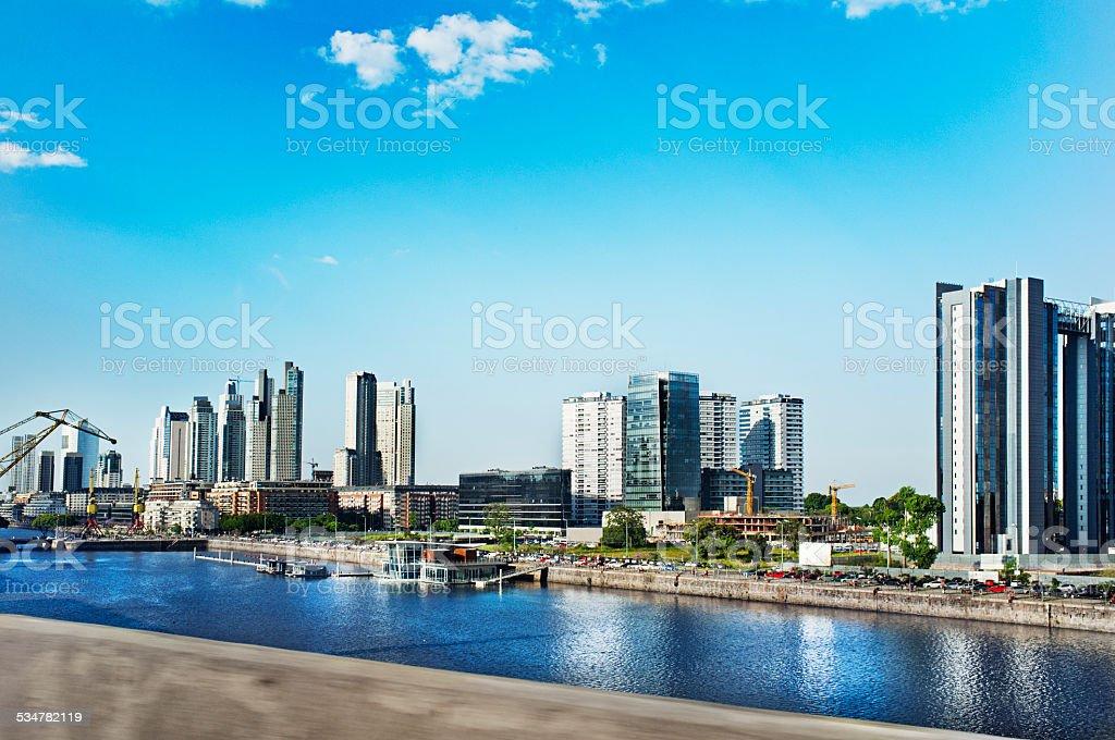 Puerto Madero Buenos Aires stock photo