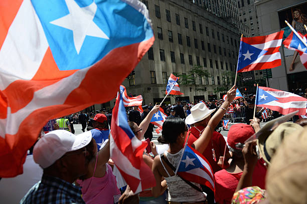Puerto-ricanische Day Parade Fans New York City – Foto