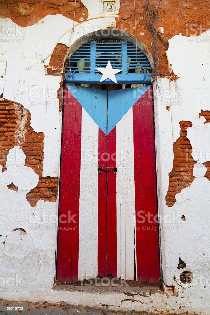 Puerto Rican door stock photo