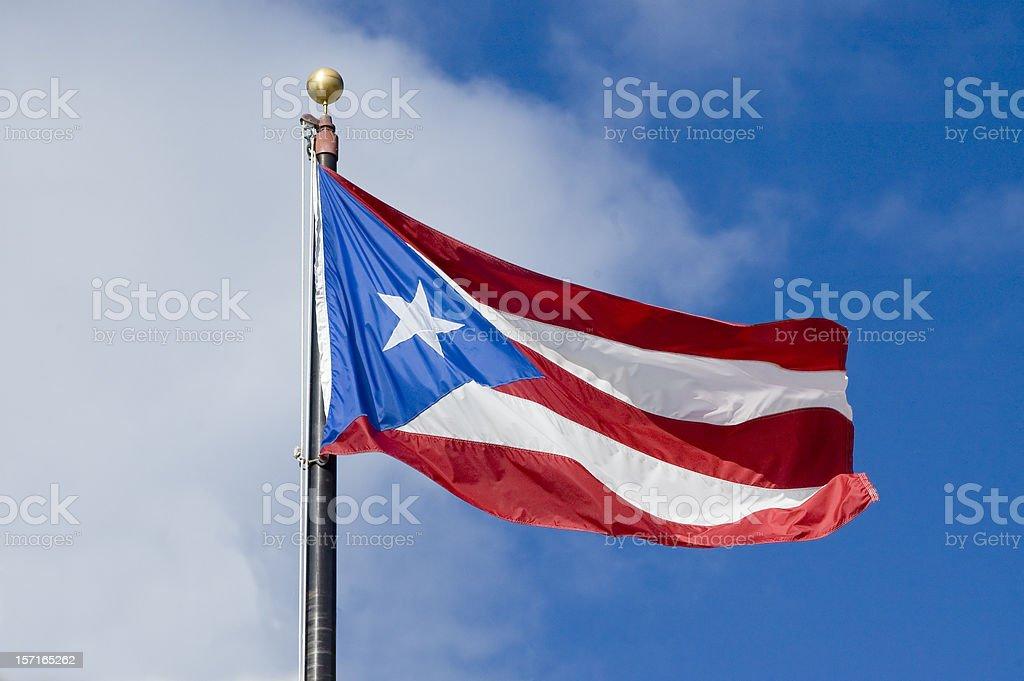 Bandera puertorriqueña - foto de stock