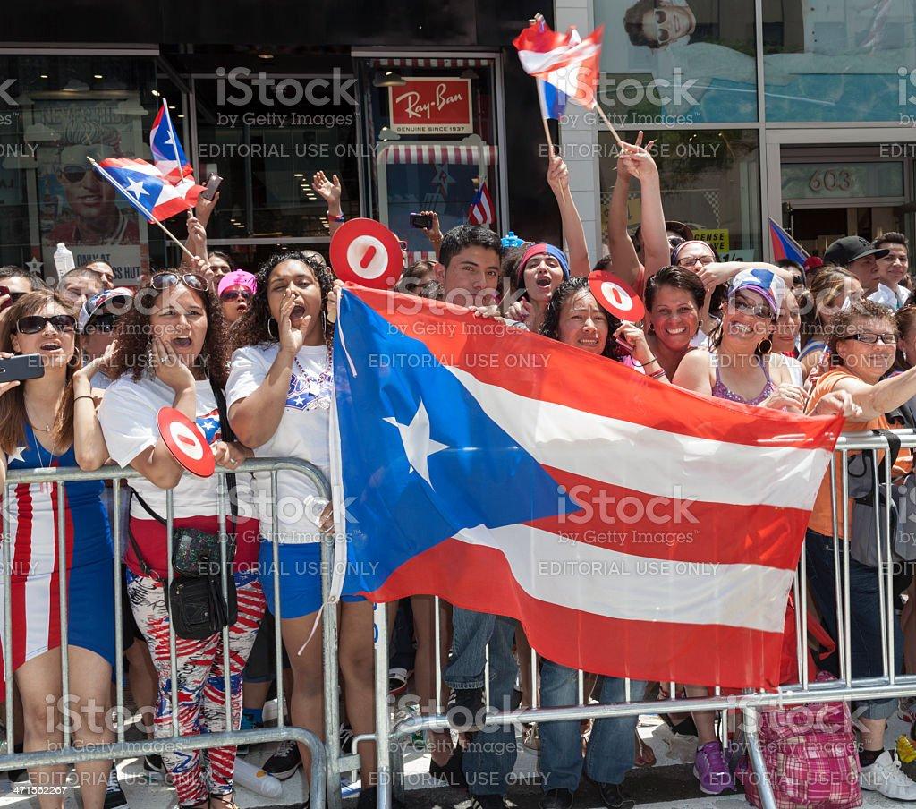 Puerto Rican parade stock photo